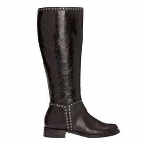 Aerosoles | Black Studded Riding Boots | Size 8.5